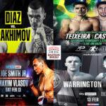 Mosaico de los mejores combates del fin de semana (12y13-2-2021)
