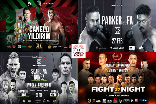 Mosaico de los mejores combates de esta semana (25al27-2-2021)