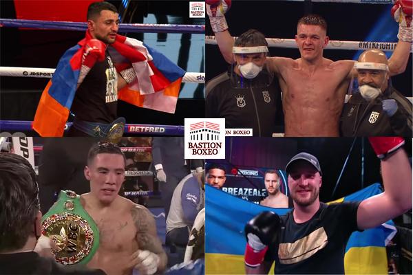 Mosaico de los resultados de los mejores combates (17al20-2-2021)