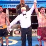 Proclamación del combate entre Jonathan Sannino y Giovanni Tagliola