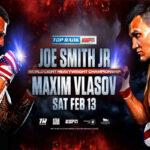 Cartel promocional de la velada Joe Smith Jr. vs. Maxim Vlasov