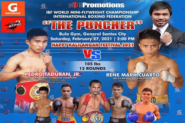 Cartel promocional del combate Pedro Tadurán vs. Rene Mark Cuarto