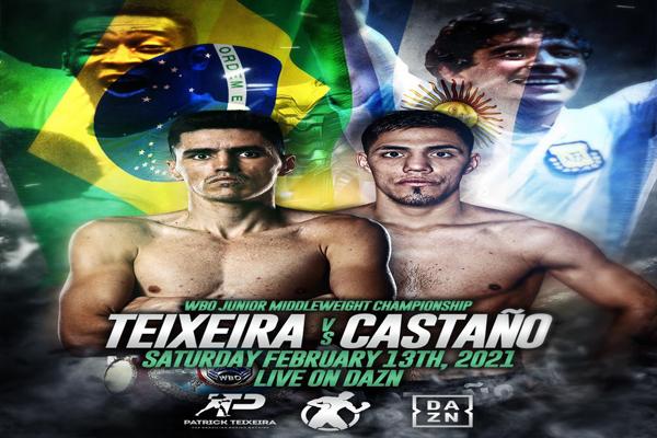 Previa: El brasileño Patrick Teixeira y el argentino Brian Castaño se enfrentan en mundial superwélter por DAZN