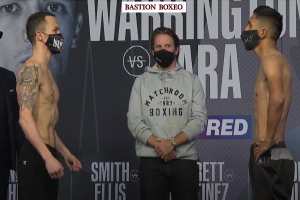 Resultados y vídeo del pesaje de la velada de DAZN Warrington-Lara y Barrett-Martínez