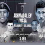 Cartel promocional del evento Murodjon Akhmadaliev vs. Ryosuke Iwasa