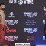 Cara a cara tras el pesaje para el combate David Benavídez vs. Ronald Ellis