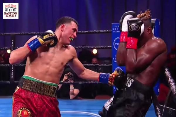 David Benavídez venció por KOT en el undécimo round eliminatoria ante Ronald Ellis