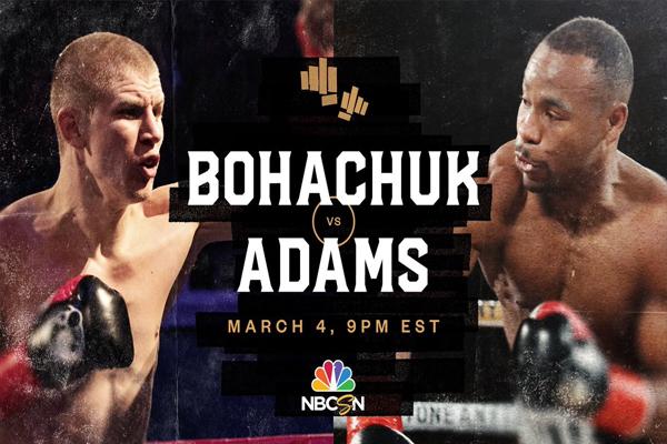 Cartel promocional del evento Serhii Bohachuk vs. Brandon Adams