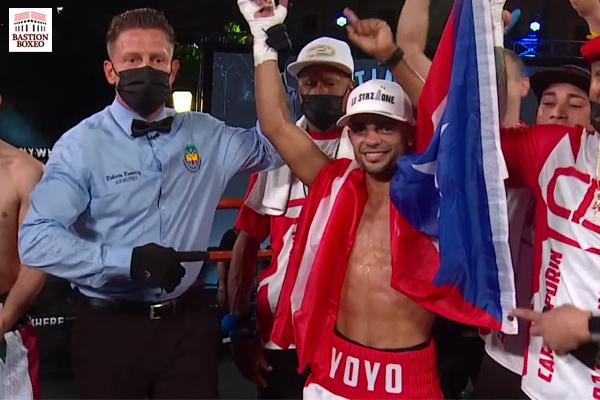 Carlos Caraballo demolió en cuatro rounds a Leonardo Báez, Eduardo Báez derrotó de forma unánime al invicto Abimael Ortiz