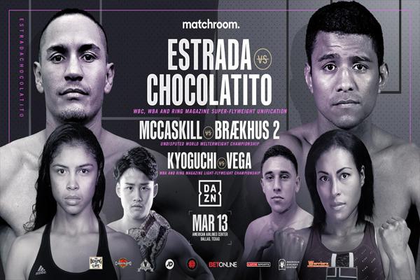 Cartel promocional del evento Juan Francisco Estrada vs. Román González II