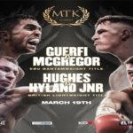 Cartel promocional de la velada Karim Guerfi vs. Lee McGregor
