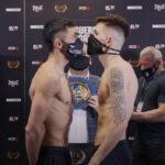 Cara a cara tras el pesaje para el combate Karim Guerfi vs. Lee McGregor