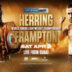 Cartel promocional del mundial Jamel Herring vs. Carl Frampton