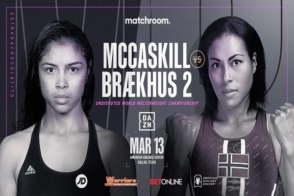 Cartel promocional del combate Jessica McCaskill vs. Cecilia Braekhus II