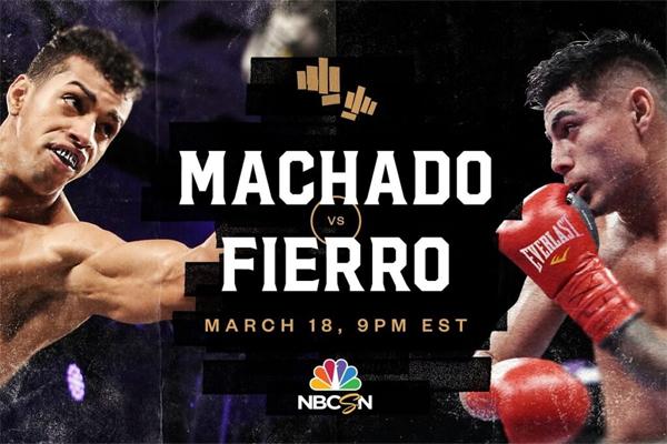 Cartel promocional del evento Alberto Machado vs. Ángel Fierro