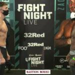 Imagen del pesaje para el combate Zach Parker vs. Vaughn Alexander