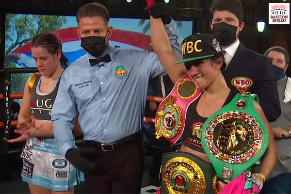 Amanda Serrano venció por knockout en el noveno asalto a Daniela Bermúdez para afianzarse en la cumbre libra por libra