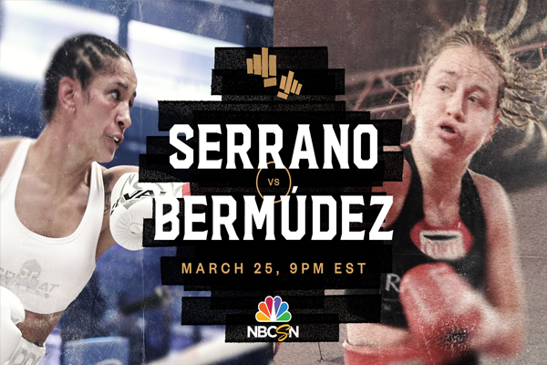Cartel promocional del combate Amanda Serrano vs. Daniela Bermúdez