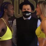 Cara a cara tras el pesaje del combate Claressa Shields vs. Marie Eve Dicaire