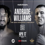 Cartel promocional del evento Demetrius Andrade vs. Liam Williams
