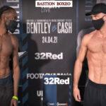 Imagen tras el pesaje para el combate Denzel Bentley vs. Felix Cash