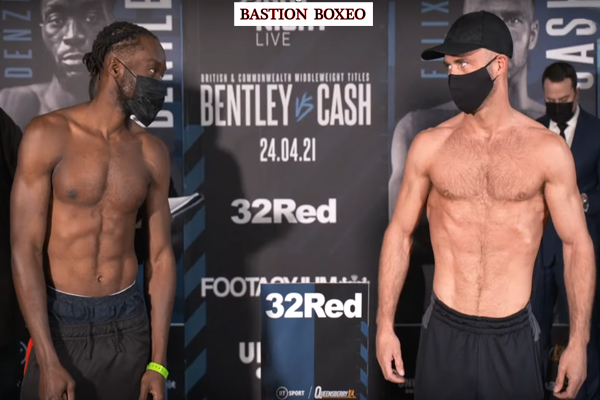 Resultados y vídeo del pesaje del evento Denzel Bentley vs. Felix Cash