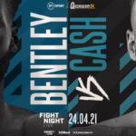 Cartel promocional del evento Denzel Bentley vs. Felix Cash