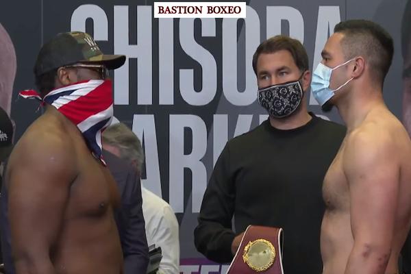 Resultados y vídeo del pesaje del evento de DAZN Joseph Parker vs. Dereck Chisora