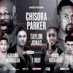 Cartel promocional del evento Dereck Chisora vs. Joseph Parker