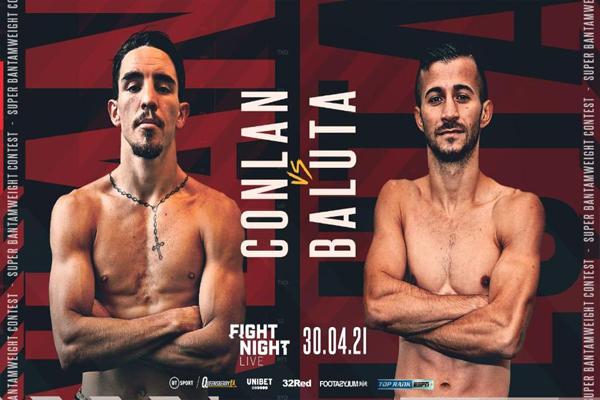 Cartel promocional del combate Michael Conlan vs. Ionut Baluta