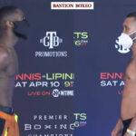 Imagen del pesaje para el combate Jaron Ennis vs. Sergey Lipinets