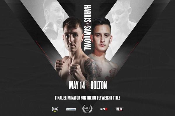 Cartel promocional del combate Jay Harris vs. Ricardo Sandoval