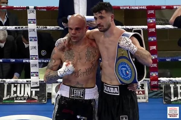 Arblin Kaba retuvo su cetro de campeón de Italia superligero con un empate técnico ante Luciano Randazzo (Vídeo de la velada)
