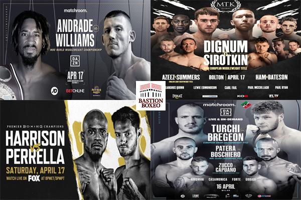 Mosaico de los mejores combates de esta semana (16y17-4-2021)