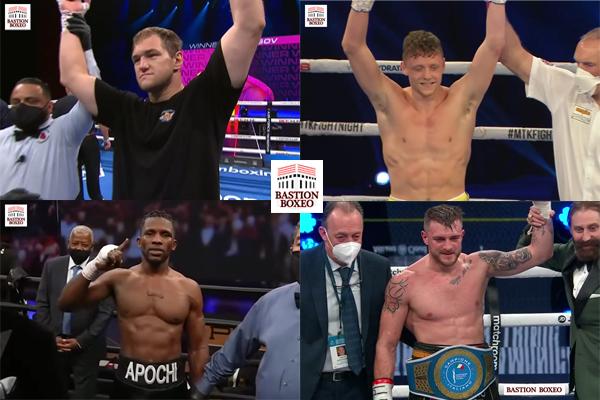 Mosaico de los resultados de los mejores combates de la semana (16y17-4-2021)