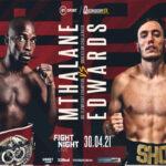 Cartel promocional del evento Moruti Mthalane vs. Sunny Edwards
