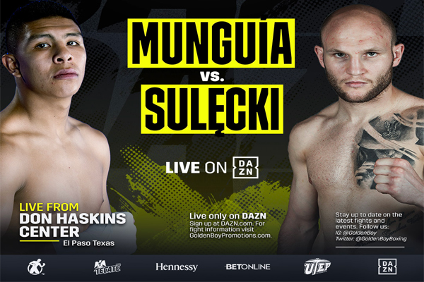 Confirmados oficialmente Jaime Munguía vs. Maciej Sulecki y Bektemir Melikuziev vs. Gabriel Rosado