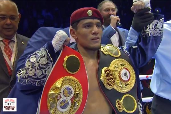 Murodjon Akhmadaliev conservó sus cinturones mundiales unificados del peso supergallo con KOT sobre el excampeón Iwasa
