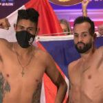 Imagen tras el pesaje para el combate Emanuel Navarrete vs. Christopher Díaz
