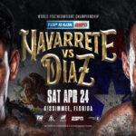 Cartel promocional del evento Emanuel Navarrete vs. Christopher Díaz