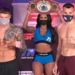Imagen tras el pesaje para el combate Joe Smith vs. Maksim Vlasov