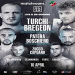 Cartel promocional de la velada del Fabio Turchi vs. Dylan Bregeon