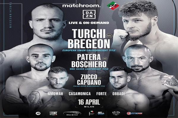 Previa: Fabio Turchi buscará capturar el cetro UE del peso crucero ante el invicto Dylan Bregeon en velada italiana de DAZN