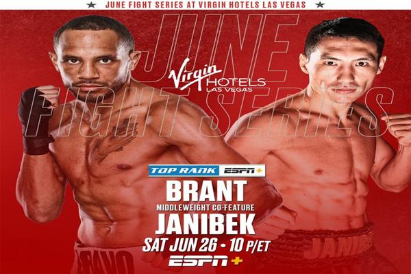 Cartel promocional del combate Rob Brant vs. Janibek Alimkhanuly
