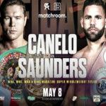 Cartel promocional de la velada Saúl Álvarez vs. Billy Joe Saunders