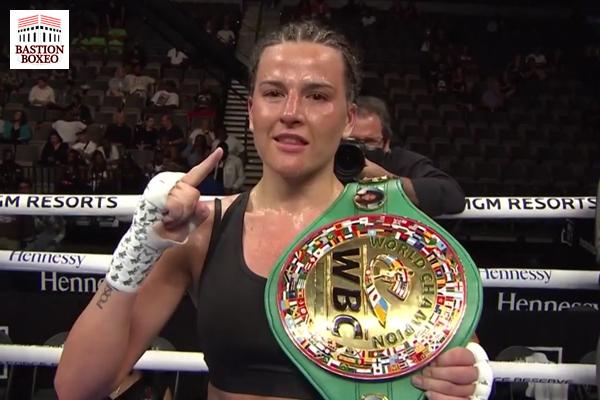 La campeona mundial Chantelle Cameron venció en el quinto round a Hernández, Quigley ganó decisión mayoritaria ante Mosley Jr.