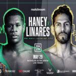 Cartel promocional del evento Devin Haney vs. Jorge Linares