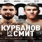 Cartel promocional del evento Magomed Kurbanov vs. Liam Smith