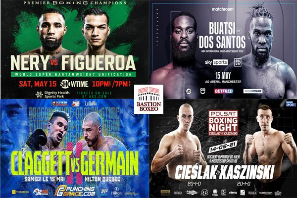 Mosaico de los mejores combates de la semana (13,14y15-5-2021)