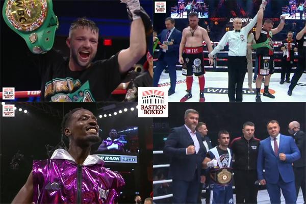Mosaico de los resultados de los mejores combates (19al22-5-2021)
